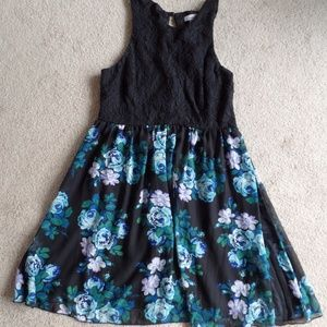 Speechless Dresses - Speechless Juniors Black Lace Bodice Dress 13